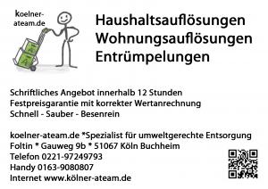 Haushaltsauflösung Köln Rath Heumar
